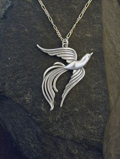 Sterling Silver Phoenix Pendant on a Sterling Silver by peteconder