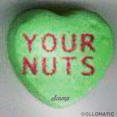 your nuts. (pretend it's still valentines day while viewing this.) #candyhearts #scampbyollomatic #scamp #ollomatic