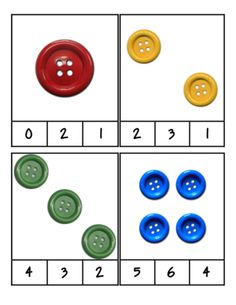 Pete the Cat - Groovy Buttons - Count and Clip Cards #1-24 from PreK Printables…
