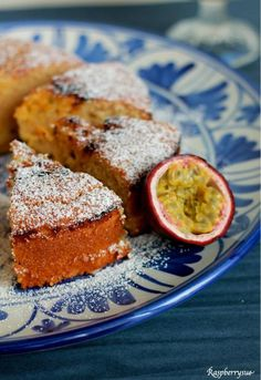 Passion Fruit Curd Cake