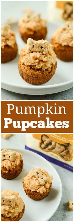 Easy No Bake Desserts, Best Dessert Recipes, Cupcake Recipes, Brunch Recipes, Breakfast Recipes, Homemade Dog Treats, Pet Treats, Dog Cupcakes, Homemade Snickers