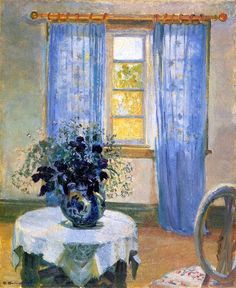 Interior with Clematis, by Anna Ancher, 1913