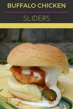 Buffalo Chicken Sliders recipe perfect for football and tailgates for your favorite teams. #tailgreatness AD @walmart