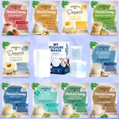 Yummy yoghurt made just by you! Visit the Hansells website to buy your Yoghurt Maker today and sachets today.   #yoghurt #food #delicious #diy #homemade #breakfast #dessert #flavoured #unsweetened Yummy Yoghurt, Breakfast Dessert, Homemade Breakfast, Sachets, Creme Brulee, Tart, Mango, Vanilla, Strawberry