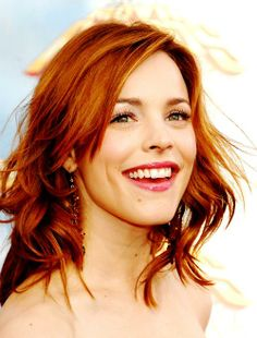 Rachel McAdams, I love this hair color, if only I had the guts to go for it