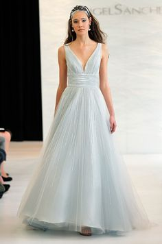 An icy blue #wedding dress from Angel Sanchez, Spring 2013.