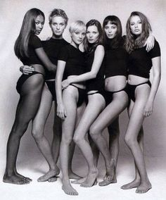 The supermodels of the 90s