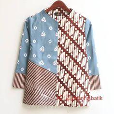 Model Dress Batik, Batik Dress, Batik Fashion, Hijab Fashion, Blouse Styles, Blouse Designs, Batik Kebaya, Blouse Batik, Blouse Models