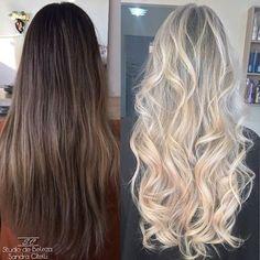 Antes e depois. Mechas com raiz apagada em Loiro Perolado. . #mechas #cabelos #perola #hair #blond #loiro #loira #transformação #studiosc #sp