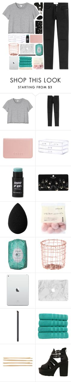 """NO ONE LIKES TO SHARE"" by dreams-of-pxrxdise ❤ liked on Polyvore featuring Monki, Current/Elliott, Coast, Topshop, beautyblender, Dot & Bo, NARS Cosmetics, Makroteks, Cara and Maison Margiela"