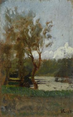 Vincenzo Cabianca : Paesaggio  (1880)  - Paesaggio (1880)