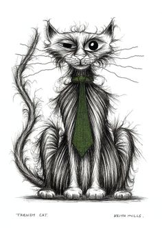 Trendy cat by Keith Mills.
