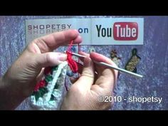 Crocheted Bootie Ornament Tutorial - PART 1 - YouTube