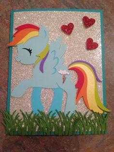 My little pony card Rainbow Dash Kaylahskards.com