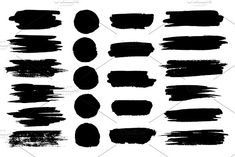 Vector black paint brush spots, highlighter lines or felt-tip pen marker horizontal blobs. Marker pen or brushstrokes and dashes. Ink smudge abstract shape stains and smear set with texture Line Texture, Paper Texture, Distressed Texture, Marker Pen, Abstract Shapes, Paint Brushes, Graphic Illustration, Illustrations, Brush Strokes