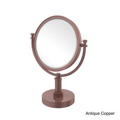 Allied 8 Inch Vanity Top Make-Up Mirror 2X Magnification