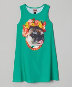 6716409c410dc Look at this Green Hula Pug Dress - Toddler Girls by Mr. Gugu Miss Go