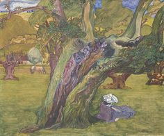 "huariqueje: "" Oude eiken in Surrey - Jan Toorop, 1890 Dutch , 1858 - 1928 Oil on canvas City Museum of Amsterdam "" Klimt, City Museum, Piet Mondrian, Dutch Painters, Post Impressionism, Dutch Artists, Tree Art, Van Gogh, Les Oeuvres"