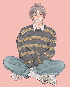 Sugawara in a cute Soft Boy fit