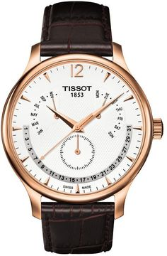 Tissot Tradition Rose Gold PVD Perpetual Mens Watch T0636373603700