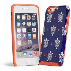 Vera Bradley Hybrid Case for iPhone 6/6s in Turtles ($38) ❤ liked on Polyvore featuring accessories, tech accessories, turtles and vera bradley