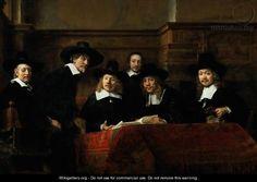 The Sampling Officials - Rembrandt Van Rijn