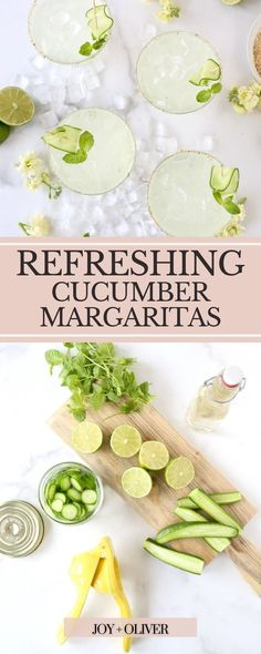 These refreshing cucumber margaritas are one of my all-time favorite cocktails, mainly because I feel like I am at a spa. Cucumber Margaritas are quick and easy to make and can truly be enjoyed all year long. I love the earthly flavor combination that fresh muddled cucumbers, mint, and lime juice create, so why not make it a cocktail with your favorite tequila and spicy salt on the rim. Winter Drinks, Holiday Drinks, Summer Drinks, Cucumber Margarita, Margarita Salt, Summer Sangria, Spring Cocktails, Cocktail Recipes For A Crowd, Food For A Crowd