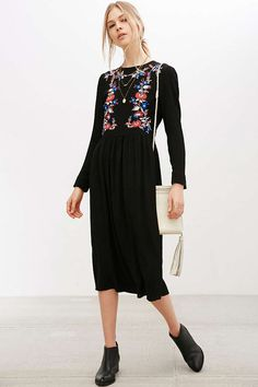 Little White Lies Precious Embroidered Dress - Urban Outfitters