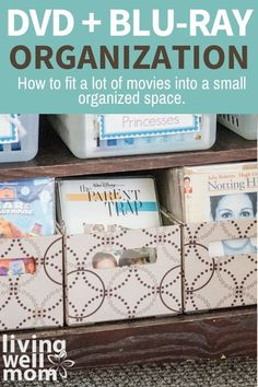 This DVD blu ray organization tip has saved us so much room in our living room! It took our massive movie collection from huge bookshelves down to a small tv cabinet space and it's so convenient too. Diy Dvd Storage, Dvd Organization, Organizing Ideas, Gifts For Boss, Love Gifts, Gift For Lover, Unique Gifts, Mom Show, Presents For Her