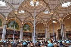 The Bibliothèque Richelieu, BNF historical cradle Country Home Magazine, My French Country Home, The Catacombs, Beautiful Library, French History, When It Rains, Bnf, Beautiful Architecture, Barcelona Cathedral