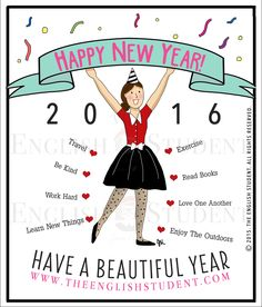 Happy New Year from The English Student! Why not make some healthy plans for your body and mind? Happy New Year 2015, Travel Workout, Hard To Love, New Things To Learn, English Vocabulary, Learn English, Books To Read, Funny Quotes, Teaching