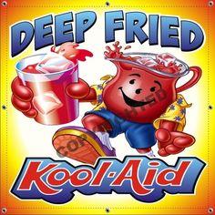 "48"" x 48"" Deep Fried Kool-Ade Concession Trailer Food Truck 13oz Vinyl Banner #SolidVisionStudio"