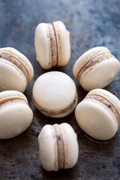 Almond Cookie Dough Macarons http://www.loveandoliveoil.com/2013/06/almond-cookie-dough-macarons.html