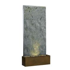 Kenroy Home Brook Lighted Indoor 25 in. Table and Wall Fountain-50620SL at The Home Depot