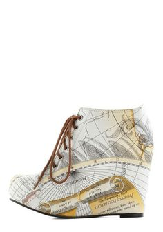 Mapmaking Your Move Wedge, #ModCloth