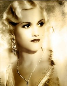 1920s hair and earrings. Finger wave hair style