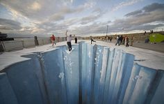 glacier falling ice chalk art pic on Design You Trust