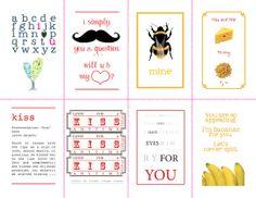 free valentine's day card printables!