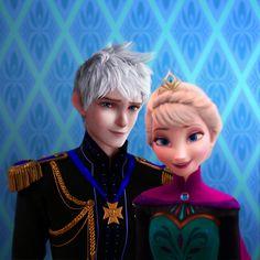 Queen Elsa and Jack Frost.