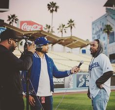 THINK BLUE: Always a pleasure seeing @kendricklamar at the Ravine.  #tbt : @mtycks  #herecomethehashtags :  #kendricklamar #dodgers #dodgerstadium #open #LADProductions #work #worklife #kdot #puttinginwork #ilovemyjob #kendrick #throwback #throwbackthursday #hiphop  #photooftheday #picoftheday #instadaily #bestoftheday #follow #photo #swag  #ihashtagtoomuch #ihashtagalot by ecvdblk