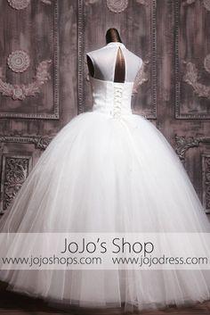 Keyhole  Modest Debutante Ball Gown Wedding Dress