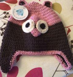 Heklet uglelue Winter Hats, Crochet Hats, Beanie, Beanies, Beret