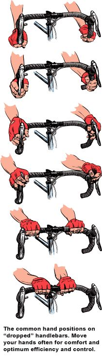 Dropped handlebars offer plenty of comfortable hand positions!