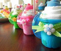 Sippy Shake - Burp Cloth, Baby Cap & Sippy Cup Milkshake - Unique Baby Shower…