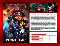 Art from Transformers Legends Mobile Game. Original text and design by me.