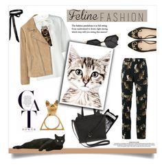 """Feline fashion 🐈"" by jemma-armitage on Polyvore featuring Kane, Glenda López, Fendi, Dolce&Gabbana, Kate Spade and MANGO"