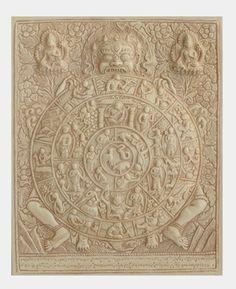 Tibetan Wheel of life plaque