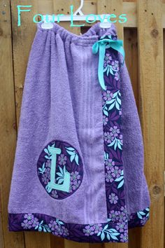 Adult and Child Spa Wrappurple towel with purple and by FourLoves, $30.00