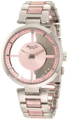Kenneth Cole pink watch I want sooo bad. I saw it at work but we sold out as soon as we got them