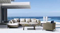 The best outdoor furniture and accessories are available in this page. Browse and discover B&B Italia modern outdoor furniture Outdoor Sofa, Outdoor Fabric, Outdoor Spaces, Outside Furniture, Outdoor Furniture Design, Luxury Furniture, Rattan Furniture, Contemporary Furniture, Modern Contemporary